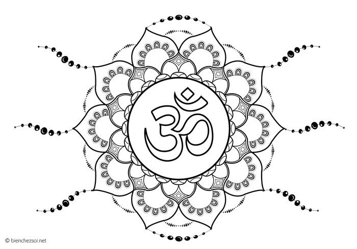 Coloriage Symbole Om Dessin Anti Stress Gratuit Pour Adulte
