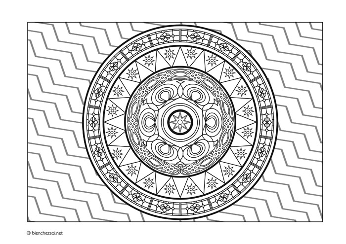 Coloriage Etoile Mandala.Coloriage Mandala Etoile Gratuit Pour Adulte Dessin Anti Stress
