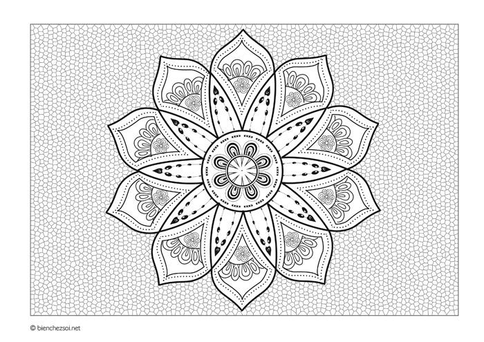 Coloriage Bebe Fleurs.Coloriage Mandala Fleur D Asie Gratuit Pour Adulte Dessin Anti Stress