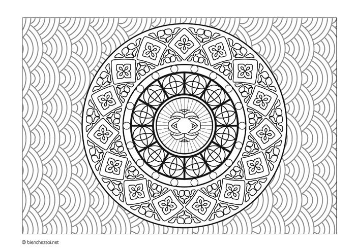 Coloriage mandala nuages gratuit pour adulte dessin anti - Coloriage d adulte a imprimer ...