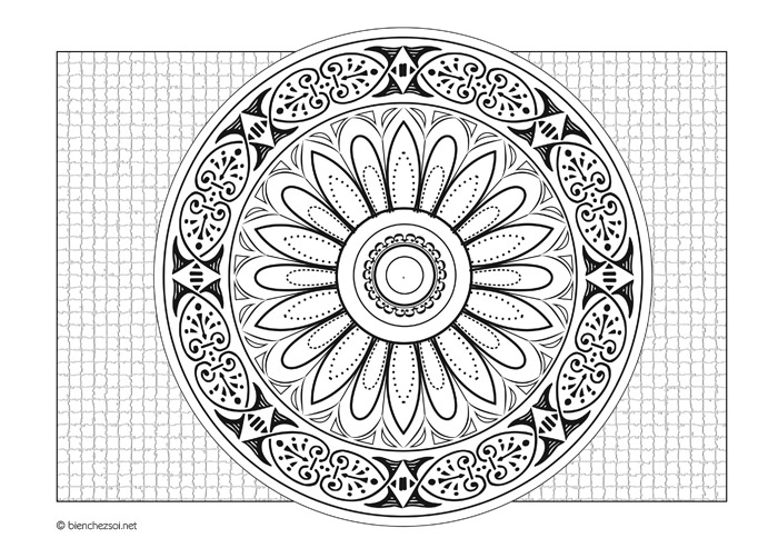 Coloriage Mandala Roulotte Dessin Anti Stress Gratuit Pour