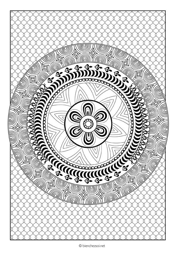 Coloriage Mandala Rond Dessin Anti Stress Gratuit Pour Adulte