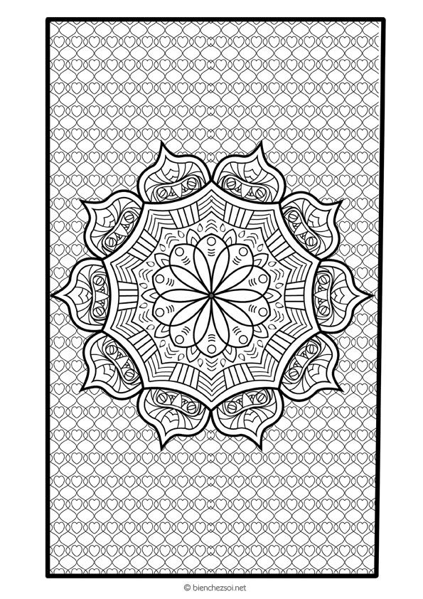 Coloriage mandala fleur indienne dessin anti stress pour adulte - Coloriage fleur mandala ...