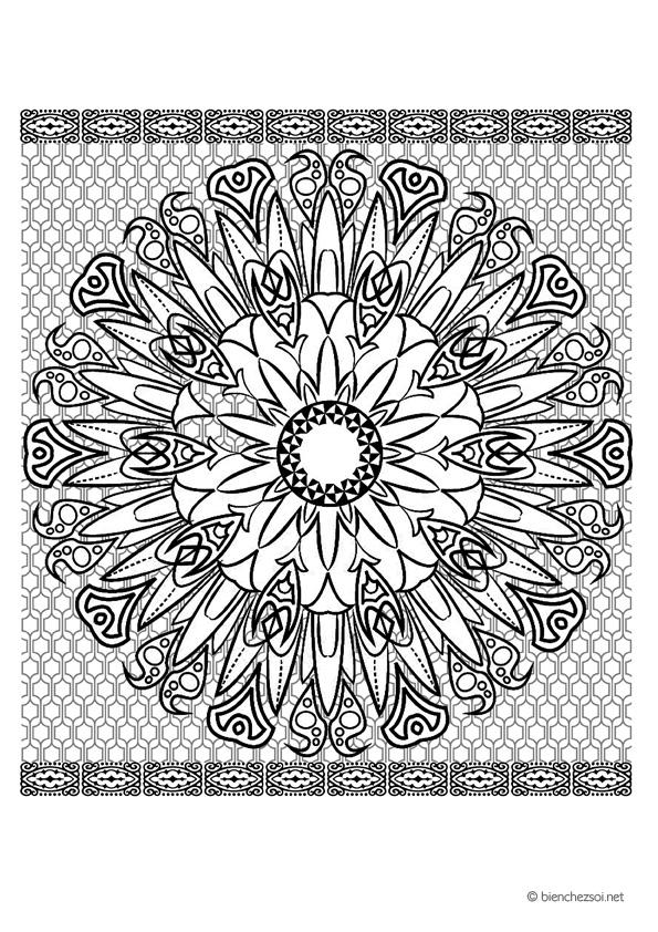 Coloriage Adulte Soleil.Coloriage Mandala Soleil Gratuit Pour Adulte Dessin Anti Stress