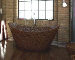 Insolite : la salle de bain en chocolat