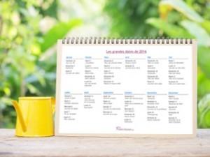 Découvrez le calendrier des grandes dates 2021