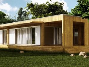 Une maison en bois construite en 5 jours