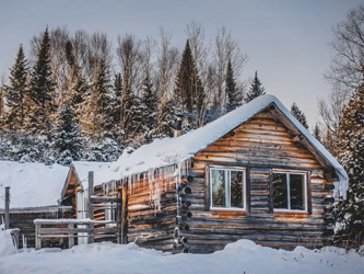 Le chalet du Canada, rustique et chaleureux