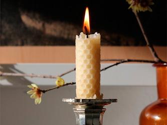 Les bougies en cire d'abeille