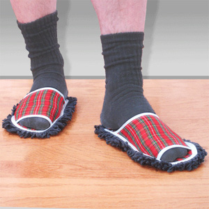 chaussons serpilliere