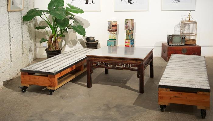 Tables basses en palettes