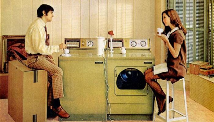 Vieux lave-linge