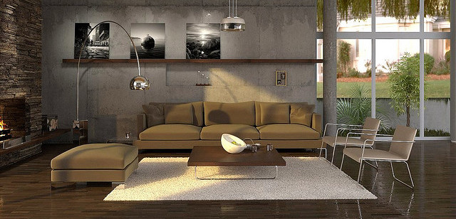 Une dcoration design mais facile pour votre salon for Deco salon design contemporain