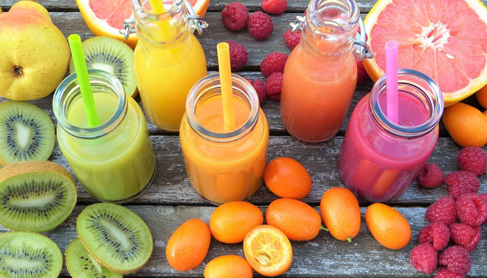 fruits et smoothies